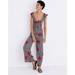 Madewell Plumeria cutout jumpsuit candied orchid